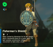 Breath of the Wild Fishing Shield Fisherman's Shield (Inventory)