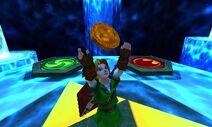 OoT-Link recibe el medallón espiritual