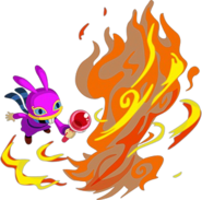 A Link Between Worlds Ravio Fire Rod (Artwork)