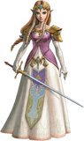 Artwork Princesa Zelda TPHD