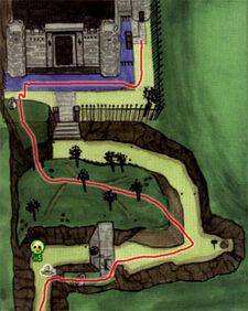 Mapa Terrenos del Castillo OoT