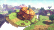 Hyrule Warriors Skyloft Pumpkin Landing (Lumpy Pumpkin)