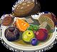 Assiette fruits et champis