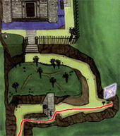 Mapa Castillo Hyrule Fuego de Din OoT