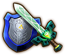 Hyrule Warriors Legends Light Sword Lokomo Sword & Mirror Shield (Level 3 Light Sword)
