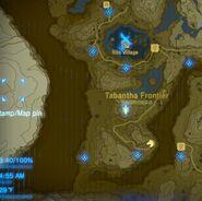 Confines de Tabanta mapa BotW