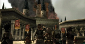 Hyrule Castle in Flames