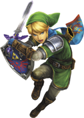 Hyrule Warriors Legends Link Master Sword & Hylian Shield (Render)