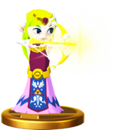 Zelda cartoon trophée ssb4 WiiU