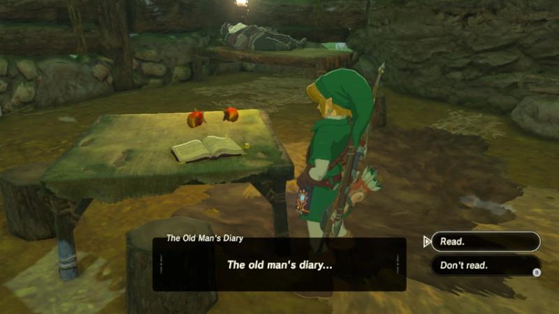 The Old Mans Diary Zeldapedia Fandom Powered By Wikia