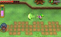 Link usando el jarrón de aire TFH