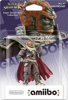 Embalaje europeo del amiibo de Ganondorf - Serie Super Smash Bros.