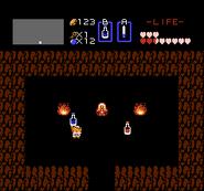 Link comprando Poción de Vida TLoZ