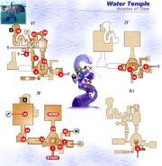 Mapa Templo del Agua OoT