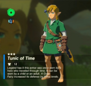 Breath of the Wild Hero's Clothes (Ocarina of Time) Tunic of Time (Inventory)
