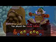 Link Goron tocando la Nana Goron