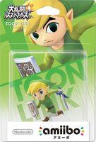 Embalaje japonés del amiibo de Toon Link - Serie Super Smash Bros.