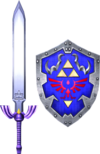 Master Sword and Hylian Shield (Soul Calibur II)