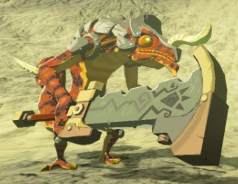 File:Breath of the Wild Lizalfos (Red) Fire-Breath Lizalfos (Stone Smasher).png