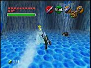 Link atacando un Freezard