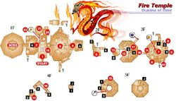Mapa Templo del Fuego OoT
