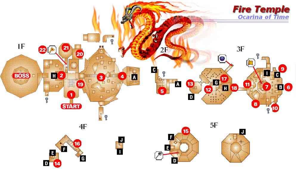 Imagen - Mapa Templo del Fuego OoT.jpg   The Legend of Zelda Wiki ...