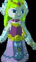 Princesa Zelda con arco TWW