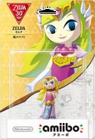 Embalaje japonés del amiibo de Zelda (The Wind Waker) - Subserie 30 aniversario