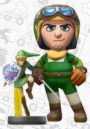 Mii usando el atuendo de Link - Mario Kart 8