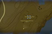 Breath of the Wild Sheikah Slate Map (Hyrule Ridge) Royal Ancient Lab Ruins (North Hyrule Plains)