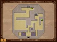 Mapa de la primera planta del Templo de los Mares ST