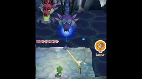 Lucha contra Griock en The Legend of Zelda Phantom Hourglass