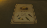 Breath of the Wild Recipe (Poster) Egg Tart (South Akkala Stable)