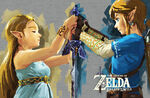 Link et Zelda Épée de Légende BOTW