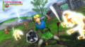 Link en la batalla. Hyrule warriors