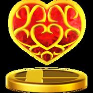 Trofeo Contenedor de corazón SSBWiiU