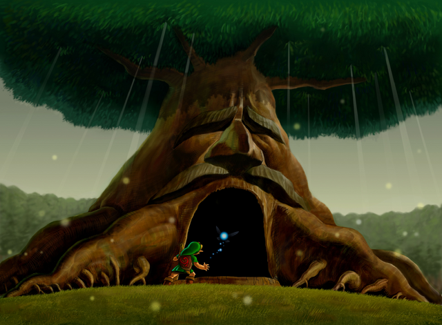 Файл:Link Enters the Great Deku Tree.png