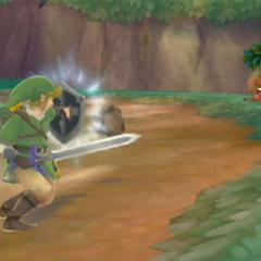 Link combatte contro un Octorok