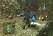 Link activando un Interruptor de Cristal TP
