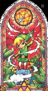Link et Dumoria vitrail