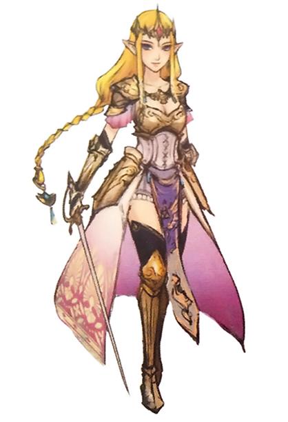 Hyrule Warriors Artwork Princess Zelda Standard Robes Concept Art