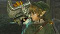 Link y Midna en la Arboleda Sagrada TP