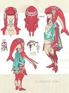 Mipha Concept Art BOTW