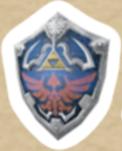 Pegatina Escudo Hylian SSBB