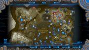 Karte Hyrules (Phirone und Wüste abgeschnitten)