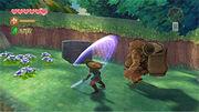 Link activando el primer Cubo Divino.