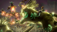 Hyrule Warriors Twili Midna Riding her Giant Twilight Wolfos (Mirror combo)