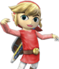SSBB Link Cartoon Costume Rouge