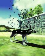 Link lobo teletransportándose junto a Midna TP
