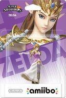 Embalaje americano del amiibo de Zelda - Serie Super Smash Bros.